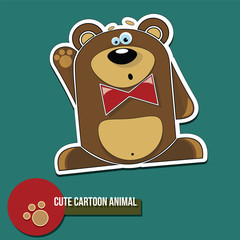 Cute cartoon animal with bear