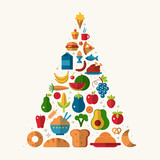 potravní pyramidy s plochými ikonami