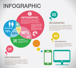 Info graphic about marketing online