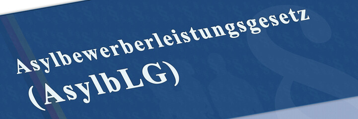 gb1 GesetzBanner - Asylbewerberleistungsgesetz - 3 zu 1 - g2652