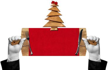 Christmas Restaurant Signboard