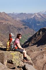 Bergwandern in den Alpen