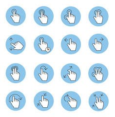 Touch gestures icons