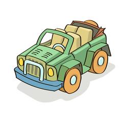 Car cartoon colored
