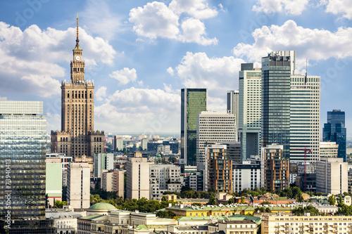 Fototapeta Warsaw downtown