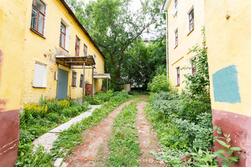 passage in the slums