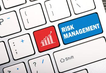 risk management concept on keyboard