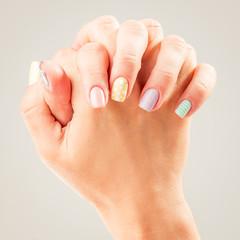 beautiful woman's hand