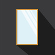 Vector of mirror with long shadow style