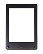 Leinwanddruck Bild - Portable e-book reader for book and screen. You may add your own