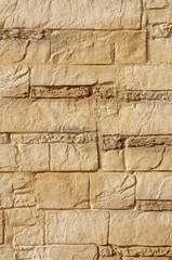 Decorative relief brown and ecru plaster
