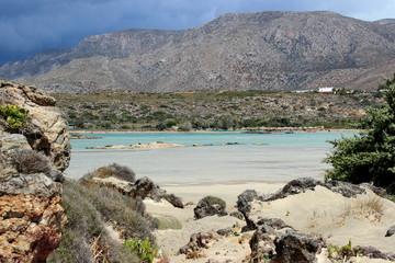Beautiful Elafonisi of Crete island, Greece