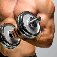 guy with dumbbell