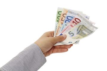 Hand hält Geld 4