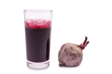 beetroot juice isolated on a white background