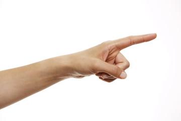 Hand zeigt Richtung an 2
