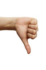 Handzeichen Daumen runter 1