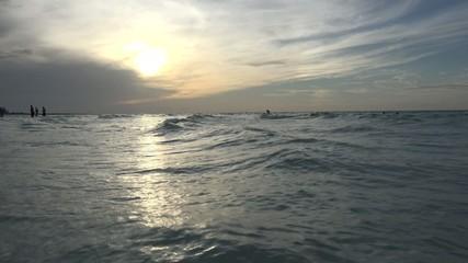 Beautiful Sunset in a Cuban Beach in a Caribbean vacation