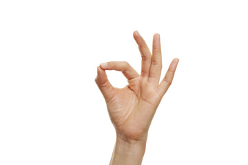 Handzeichen Perfekt