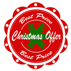 Christmas Offer-label