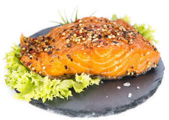 Smoked Salmon (over white)