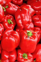 Fresh organic red bell pepper background