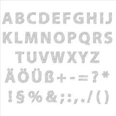 Alphabet groß editierbare Text mit Grafikstile Bleistift