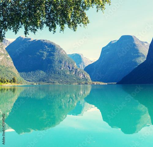 Lake in Norway - 73945402