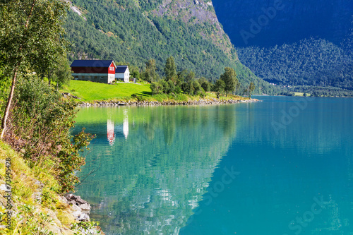 Lake in Norway - 73945428