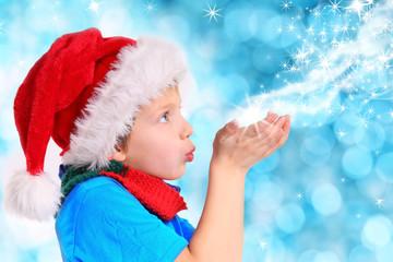 Kind sendet seinen Weihnachtswunsch