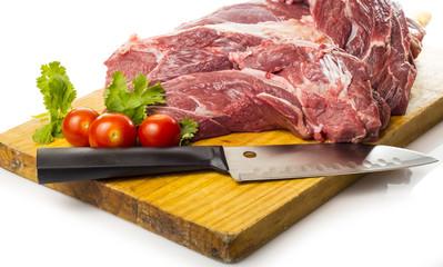 Carne fresca para estofado