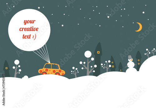 New Year car - 73945865