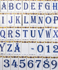 tiles with the alphabet