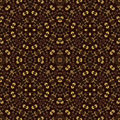 Abstract kaleidoscope backgrond with small heart tiles