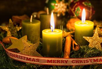 vierter Advent alle Kerzen brennen