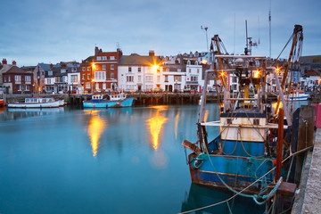 Fishing harbour in Weymouth, Dorset, UK.