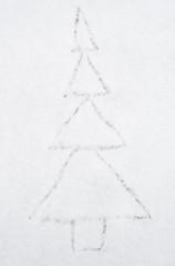 Drawing herringbone on snow