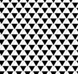 Black and white geometric seamless pattern with triangle and tra