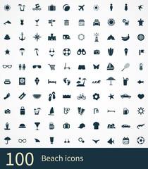 100 beach icon