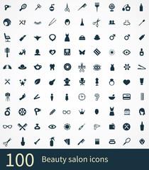 100 beauty salon icon