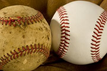 Old and New Baseballs