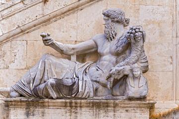 Ancient Roman allegory of Nile River. Campidoglio, Palazzo Senat