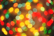 Christmas holiday lights soft focus background