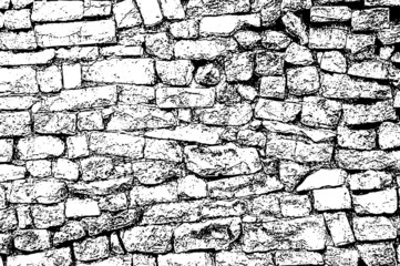 Old masonry uneven wall background