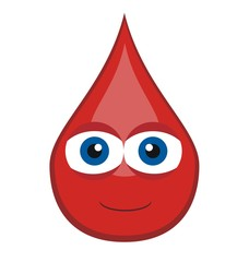 blood drop - cartoon theme