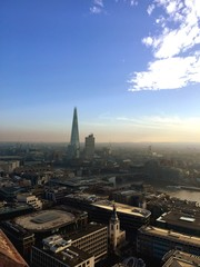 London skyline from the top of St Pauls Cathedral