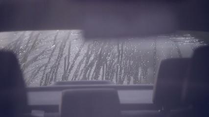 Carwash white car washes slow motion