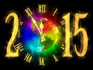 Happy new year 2015 - Earth - America