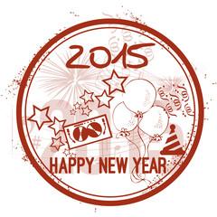 Stamp Happy New Year 2015