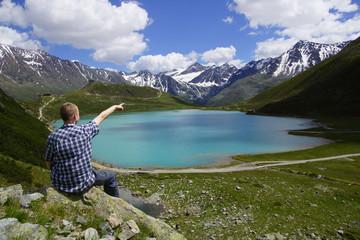Tiroler Rifflsee in den Alpen